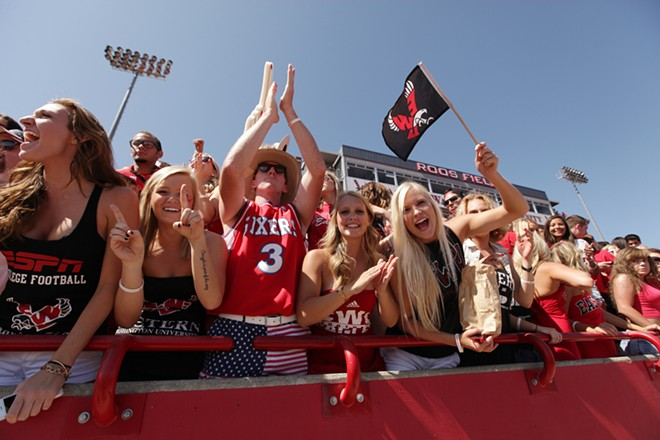 Eastern Washington fans cheer before the game. - YOUNG KWAK