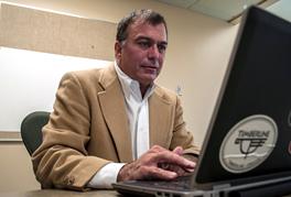 Ed Byrnes, an EWU associate professor and statistician, has helped the Spokane Police develop the data program. - SARAH WURTZ