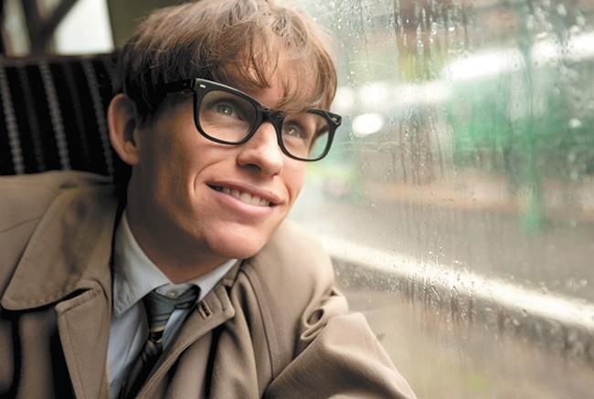 Eddie Redmayne as Stephen Hawking.