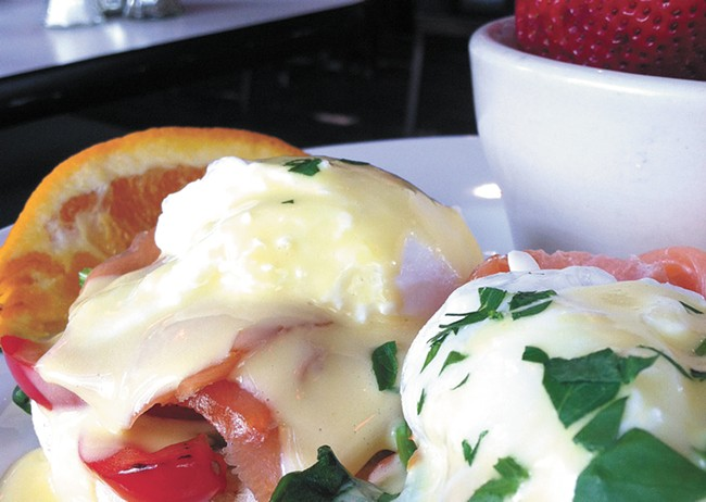 Eggs Benedict is part of Scratch's new breakfast menu. - CARRIE SCOZZARO