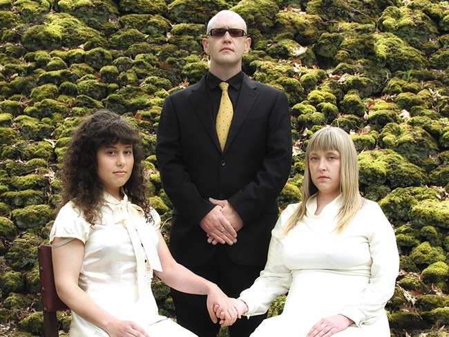 Eight Bells (from left): Haley Westeiner, Christopher Van Huffel, Melynda Jackson - JUSTINE MURPHY