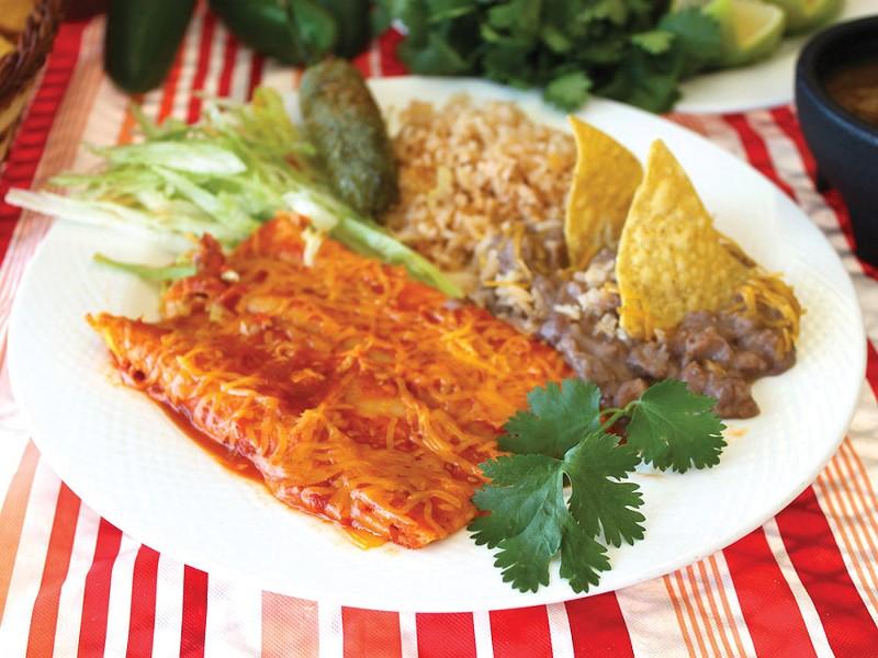El Mercado Del Pueblo\'s enchiladas