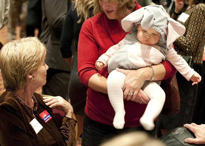 A GOP good luck charm at the Cathy McMorris-Rodgers watch party.