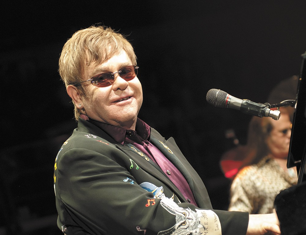 Elton John performs at the Spokane Arena. - AMY HUNTER