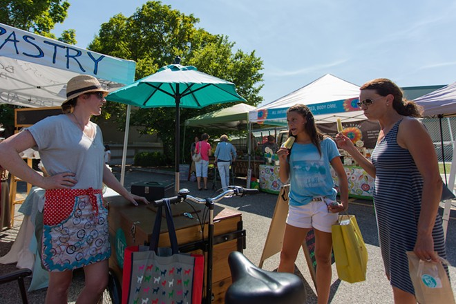 Enjoy a tasty treat from Fannie's Ice Pops, often found at the South Perry Farmers Market on Thursdays. - MATT WEIGAND