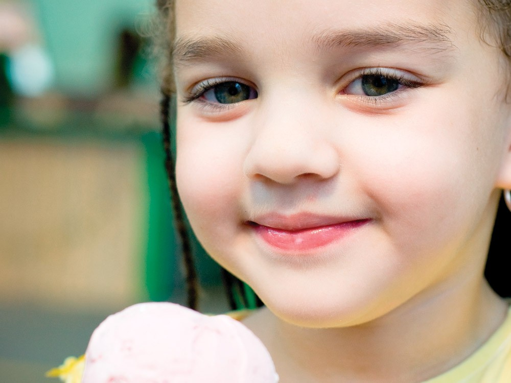 Enjoying ice cream at Pig Out 2009 - MIKEL DANIEL