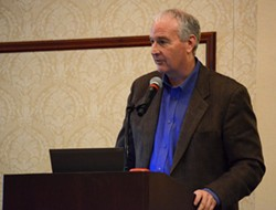 Dale Jensen, a manager with Ecology's Spills Program, shares background on the ongoing rail shipping study. - JACOB JONES