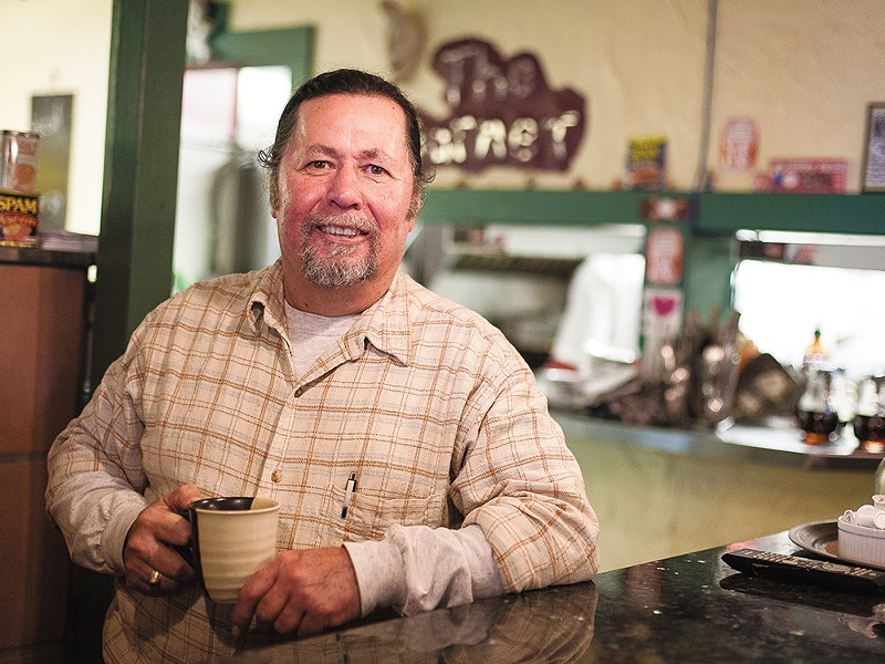 Everett Fees, owner of Garnet Cafe in Coeur d\'Alene, has cooked and owned a long list of Inland Northwest restaurants. - MIKE MCCALL