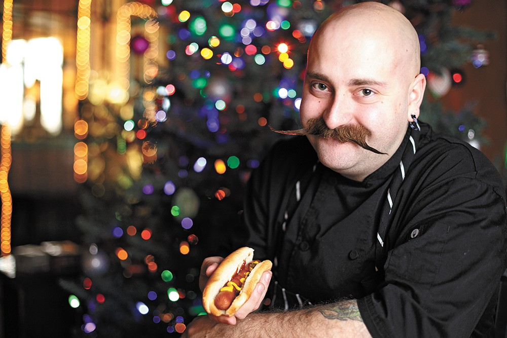 Every Christmas No-Li Brewhouse Chef Branden Moreau grabs a gas station hot dog. - YOUNG KWAK