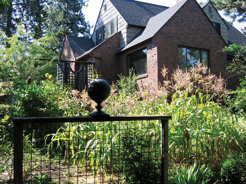 Explore the West Hills neighborhood's gardens and original art.