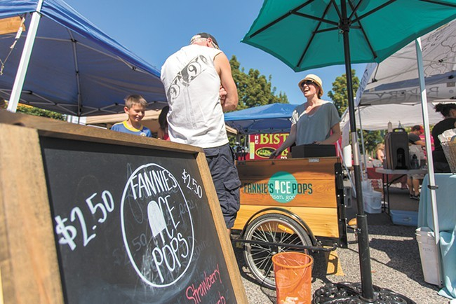 Fannie's Ice Pops at a recent Thursday Market in the South Perry neighborhood. - MATT WEIGAND
