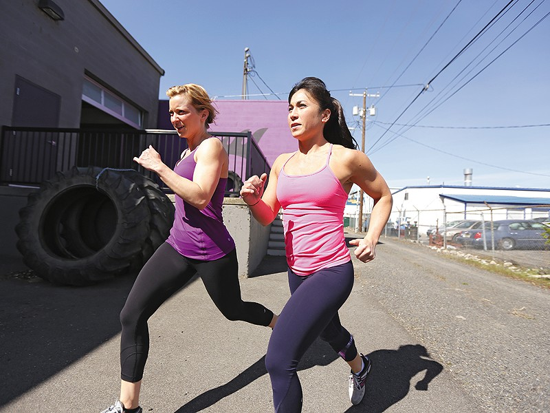 Farmgirlfit owners Jenni Niemannleft and Jaunessa Walsh recommend a balanced approach, with running and weights. - YOUNG KWAK