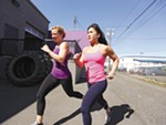 Farmgirlfit owners Jenni Niemannleft and Jaunessa Walsh recommend a balanced approach, with running and weights.
