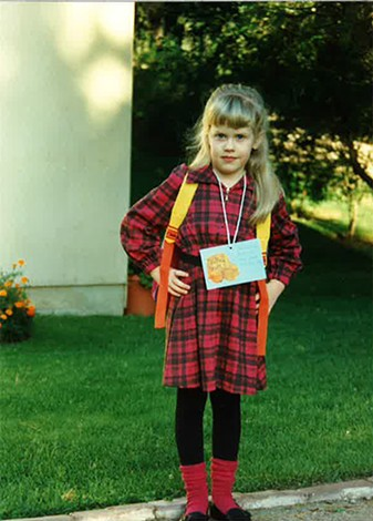 First day of kindergarten back in 1993
