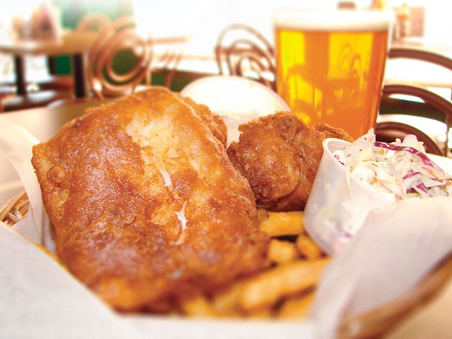 Fish, chips, brew - at Kelly's Irish Pub, they're magically delicious - CARRIE SCOZZARO PHOTO
