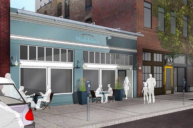 A rendering of the new location on Main Avenue. - MADELEINE'S