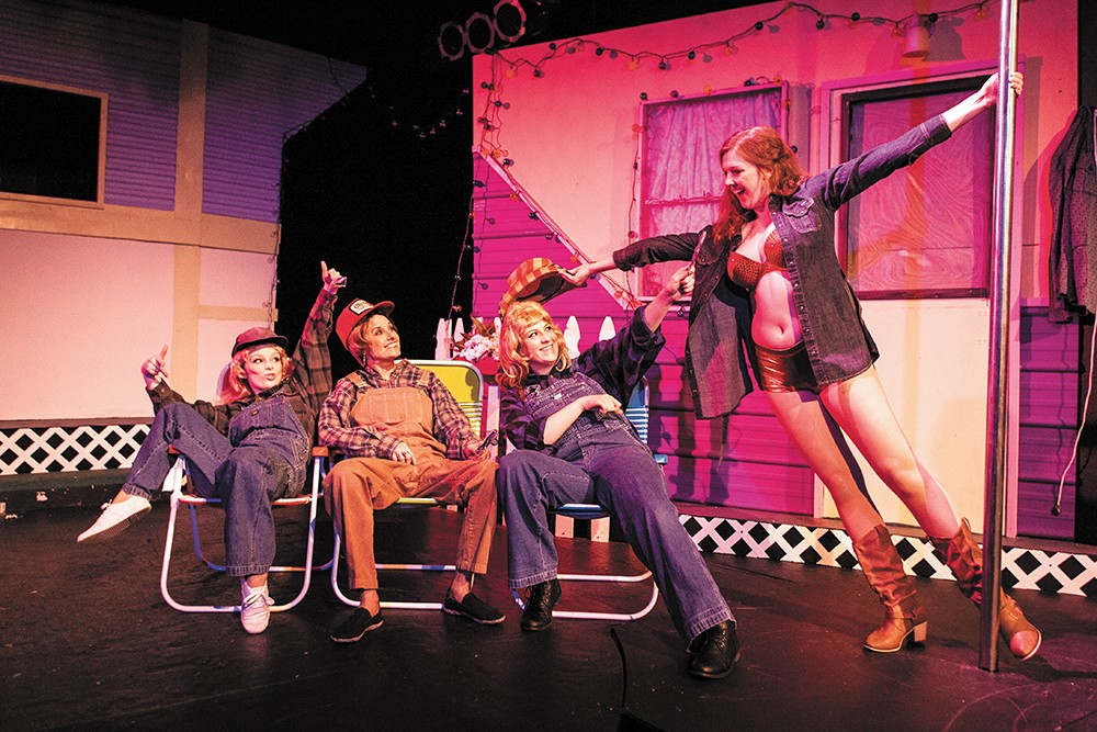 From left: Aubree Peterson as Pickles; Din Golden as Betty; Charisa Bareither as Lin; and Hannah Farley as Pippi. - MIKE MCCALL