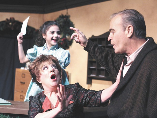 From left: Marlena Mizzoni, Kathy Doyle-Lipe and Wes Deitrick in the Civic\'s White Christmas. - YOUNG KWAK