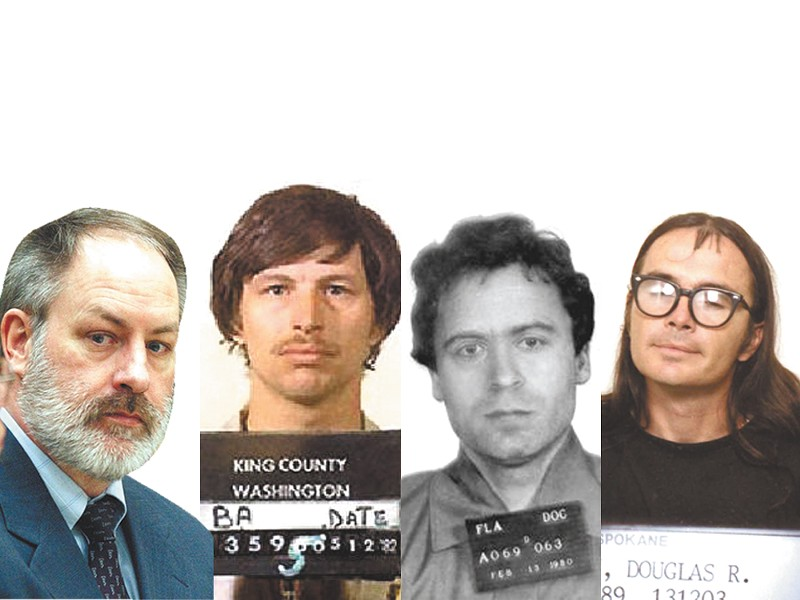 From left: Robert Lee Yates, Gary Ridgway and Ted Bundy. And now Donna Perry has been implicated in three killings in 1990.
