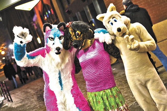 Furries at Spokane's First Night