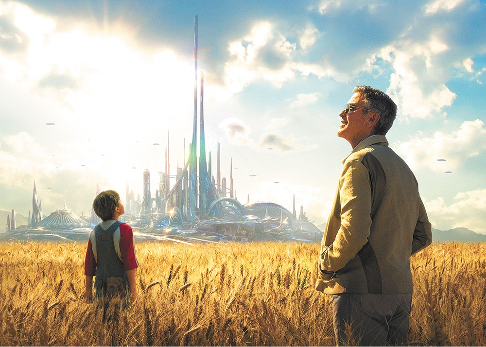 George Clooney leads a trip to Tomorrowland.