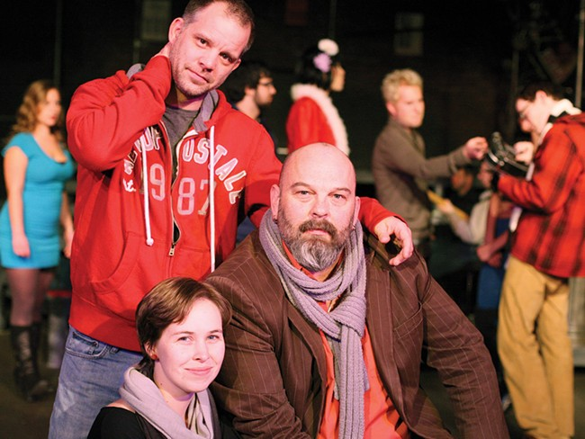George Green, top left, choreographer Jillian Wylie, bottom left, and director Troy Nickerson - YOUNG KWAK