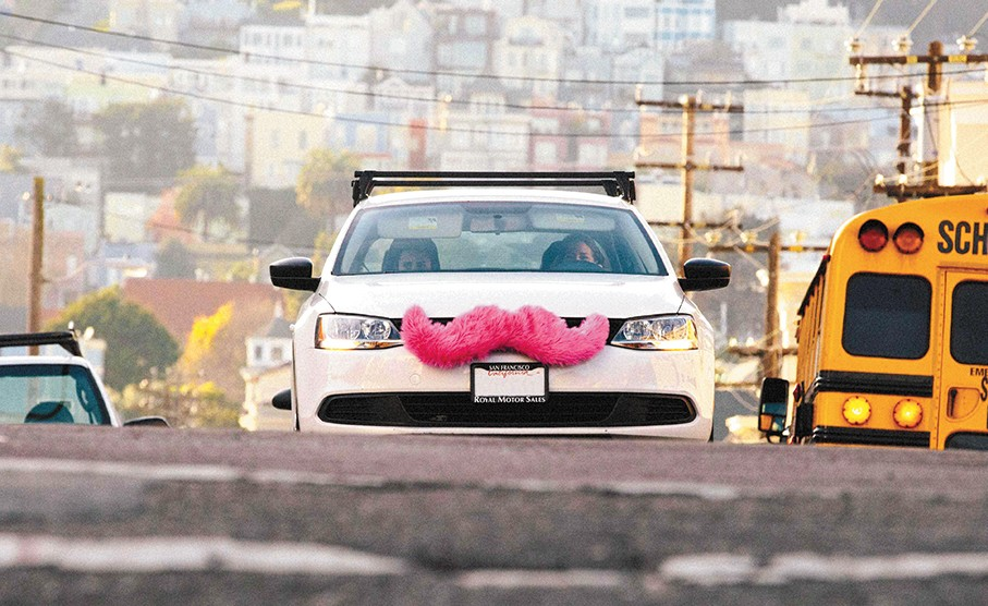 Giant fuzzy pink mustaches are an iconic part of the Lyft ridesharing brand — but they've made it simple for local cab drivers to report Lyft drivers.