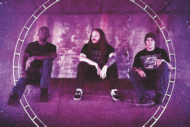 Gigan is just one of the many loud-ass bands coming through the Hop! this weekend.