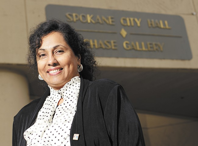 Gita George-Hatcher used to lead affirmative action programs for the city and is now head of civil service. She hopes to recruit more women and minorities to city jobs. - YOUNG KWAK