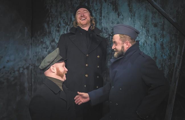 Glenn Bentley (left), Daniel J. Bell (center) and Jim Swoboda star in All Is Calm. - DAN BAUMER