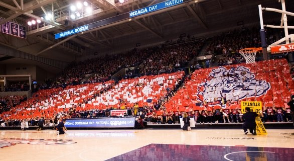 Gonzaga's student section is a finalist for the Naismith Student Section of the Year Award. - BRETT BOLLIER