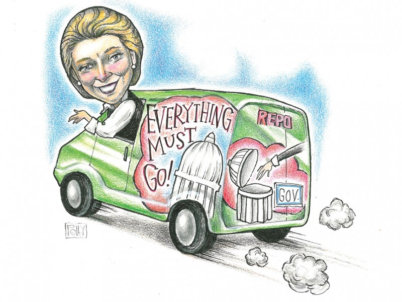 Gov. Chris Gregoire - ILLUSTRATION: POLLY POWELL