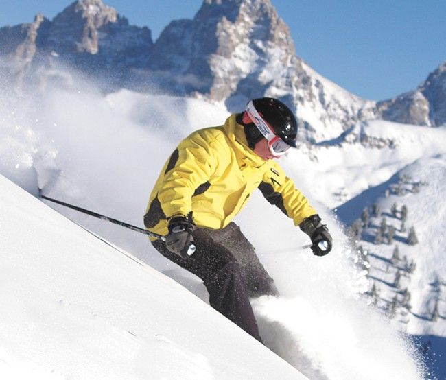 Grand Targhee is located on the Idaho-Wyoming border. Pictured Bill Savitz. - BOB LEGASA