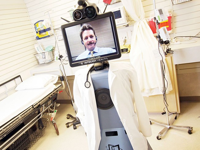Hawkeye - the InTouch Health RP-7i remote presence machine - operated by InTouch Health regional account manager Denny Lordan. - YOUNG KWAK