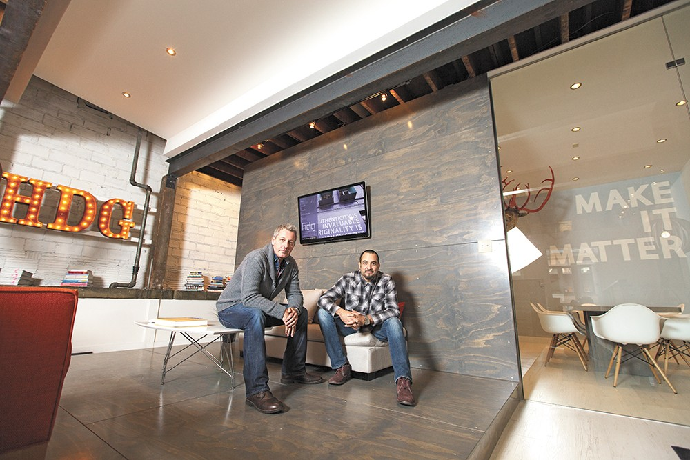 HDG co-owners Josh Hissong, left, and Armando Hurtado have designed several new Spokane restaurants. - YOUNG KWAK