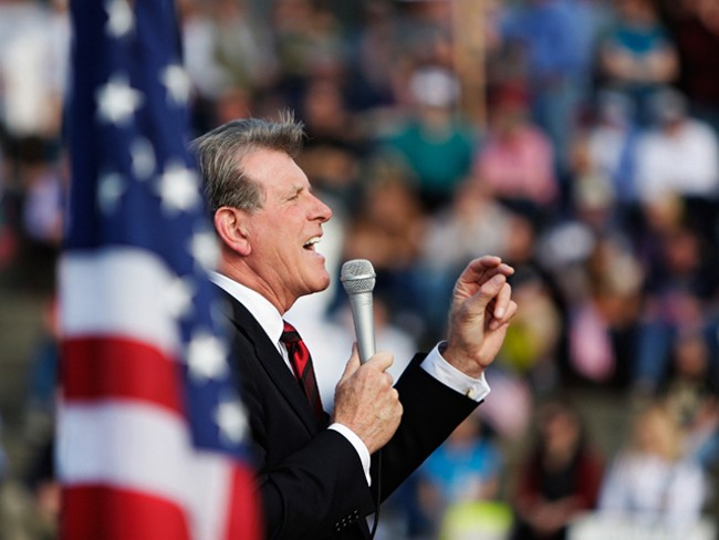 Idaho Gov. Butch Otter at last month's Tea Party rally in Spokane - YOUNG KWAK