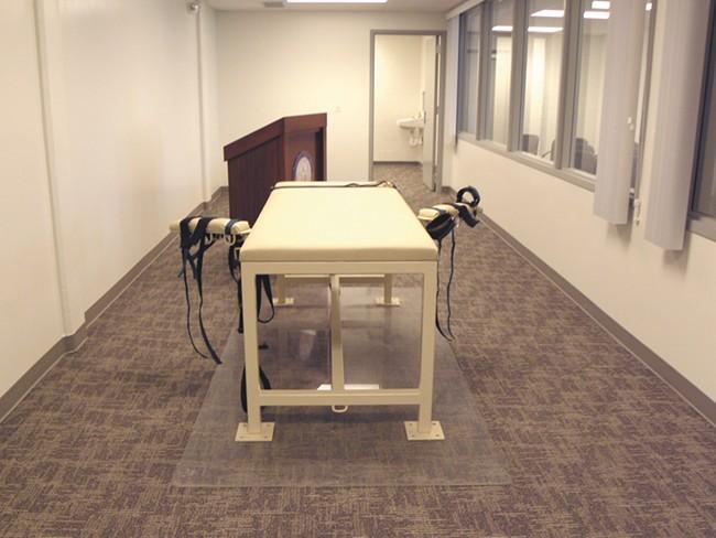 Idaho's death chamber. Richard Leavitt (below) was put to death Tuesday morning.