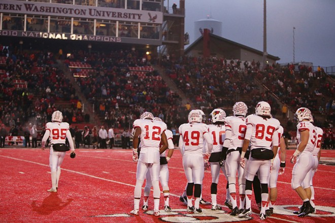 Illinois State players prepare to take the field against Eastern Washington during the second half. - YOUNG KWAK
