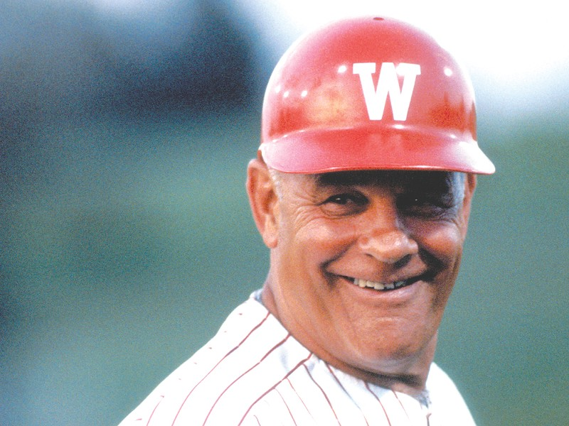 In his 33 years at the helm of the WSU baseball program, Bobo Brayton won a total of 1,162 games. - WAU ARCHIVE