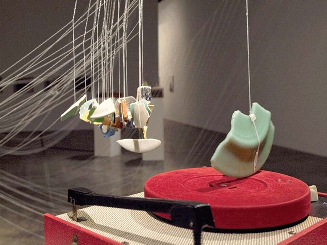 """In """"More Than Concrete,"""" shards of ceramic become the stylus of a turntable."""