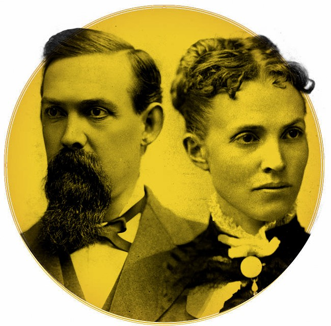 James N. Glover and Susan T. Glover around 1880