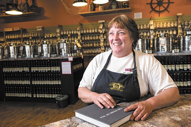 Jan Love of Spice Traders Mercantile says there are unlimited combinations of tea to make you feel better. - STEPHEN SCHLANGE