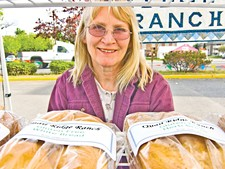 TAMMY MARSHALL - Jane Keolker of Quail Ridge Ranch sells fresh-baked gluten-free breads and cookies.