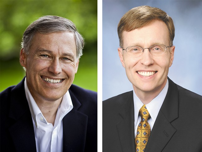 Jay Inslee, left, and Rob McKenna aren't letting up