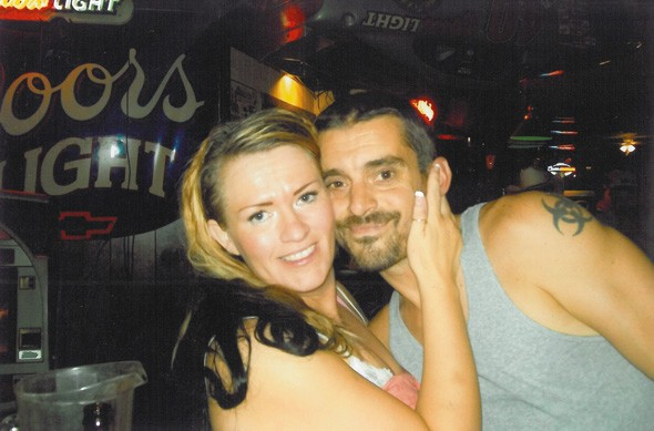 Jeremy Groom with his friend, Janelle Thompson.