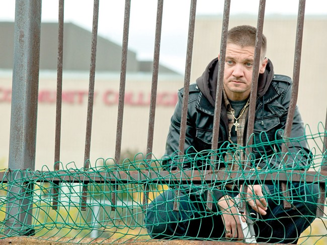 Jeremy Renner, behind the hurt fence