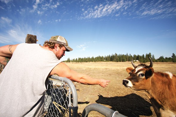 """Jerry Sumner's small farm in Nine Mile Falls yields a little bit of cash for his family. But it's not enough. """"It's my whole livelihood revolving around getting my driver's license,"""" he says. - YOUNG KWAK"""