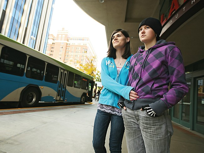 Jessica Jahn, left, and Mat Kellogg didn't have a great trip on an STA bus. - YOUNG KWAK
