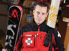 Jonah Pucci advocates the buddy system - and common sense skiing and boarding. - YOUNG KWAK