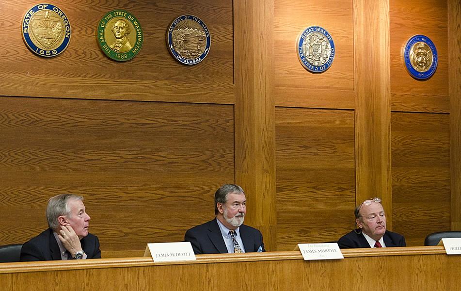 Commissioners listen to public comment. - JACOB JONES